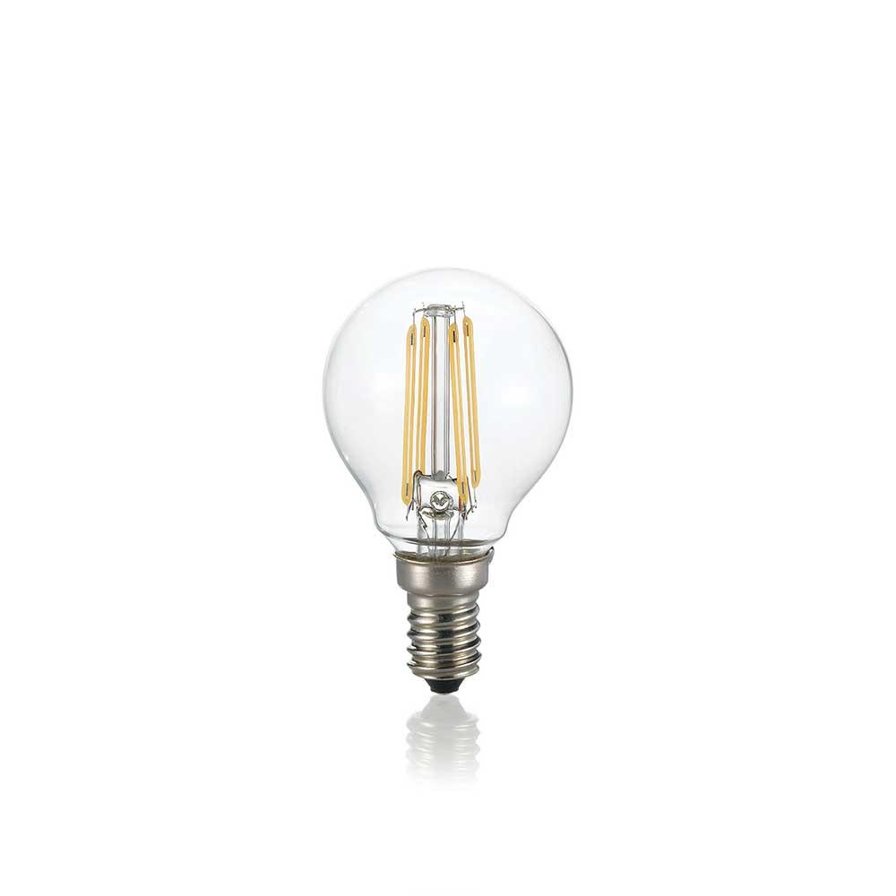 LAMPADINA CLASSIC E14 4W SFERA TRANSPARENT 3000K