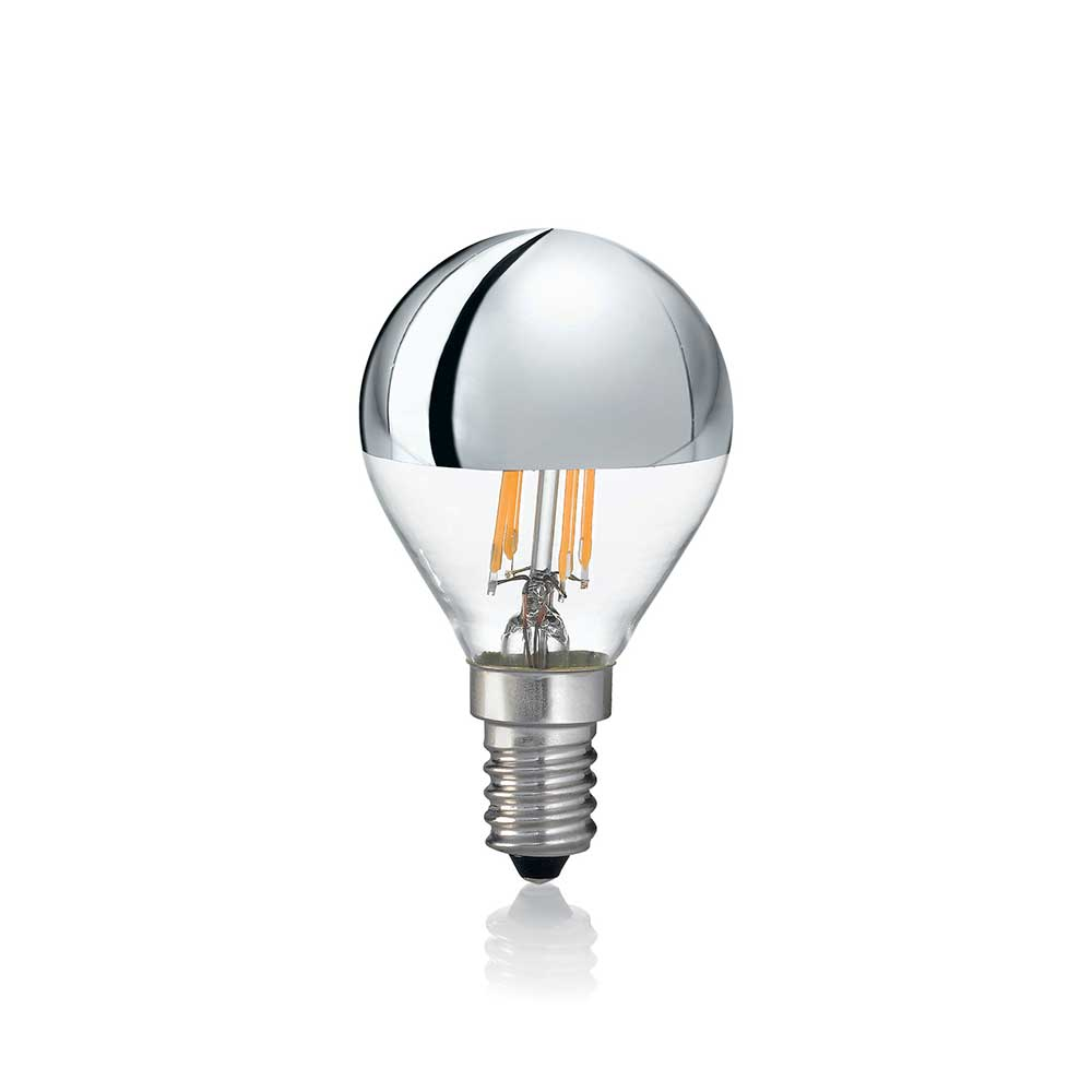 LAMPADINA CLASSIC E14 4W SFERA CHROME 3000K