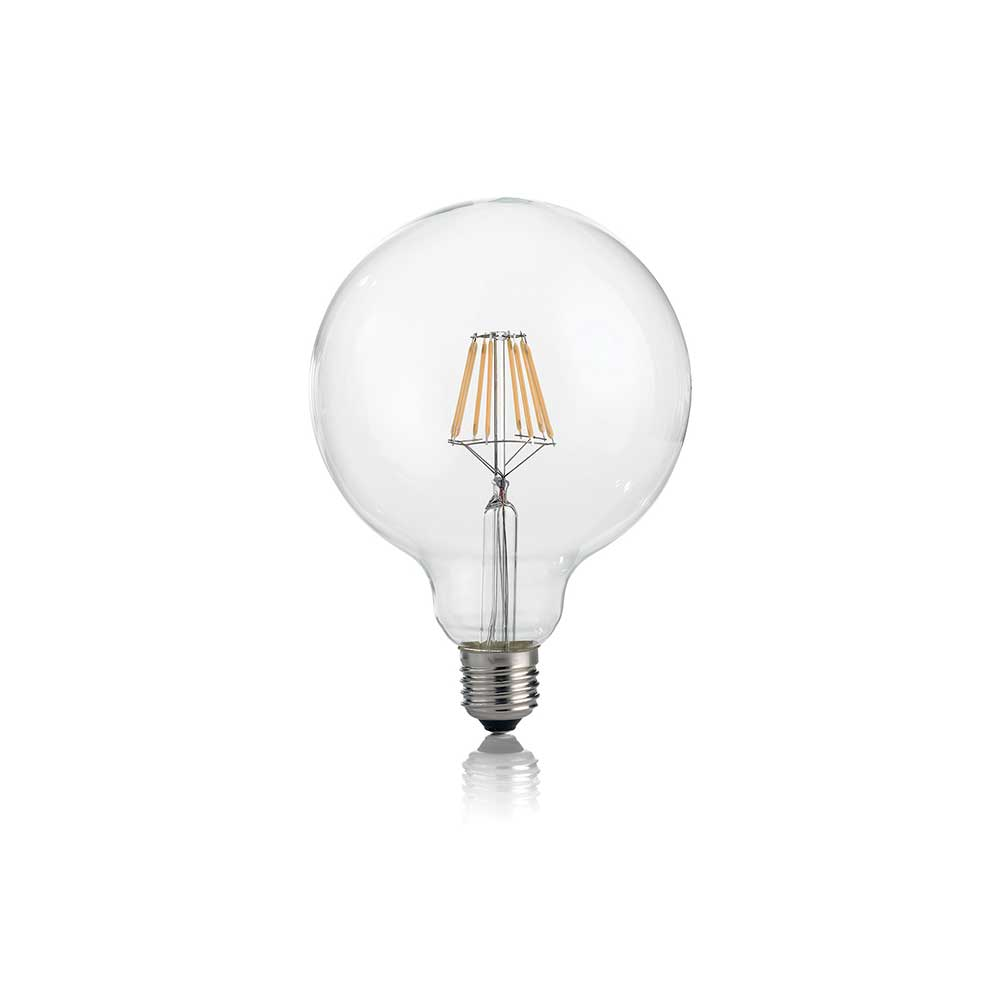 LAMPADINA CLASSIC E27 8W GLOBO D125 TRANSPARENT 3000K