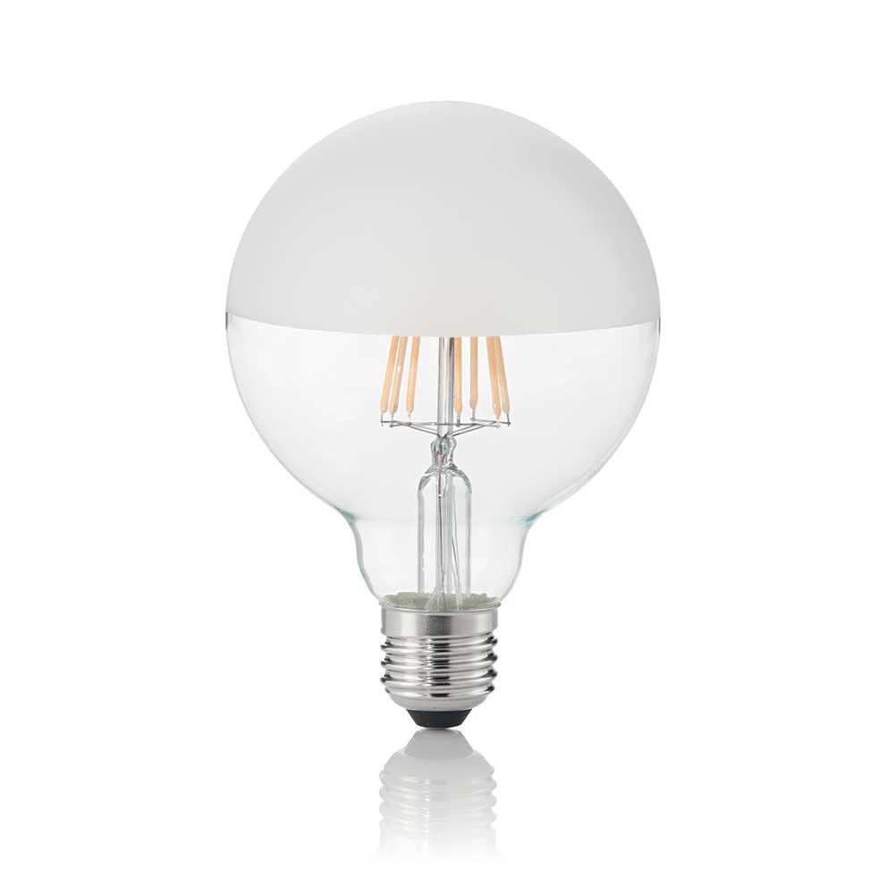 LAMPADINA CLASSIC E27 8W GLOBO D95 SATINATA 3000K