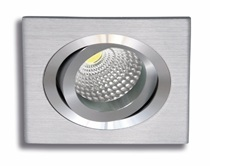 Recessed square aluminium movable