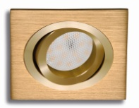 Recessed square gold movable
